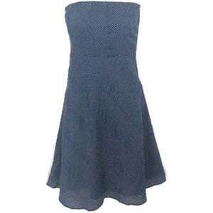 J. Crew Lorelei Cotton Strapless Polka Dot Dress